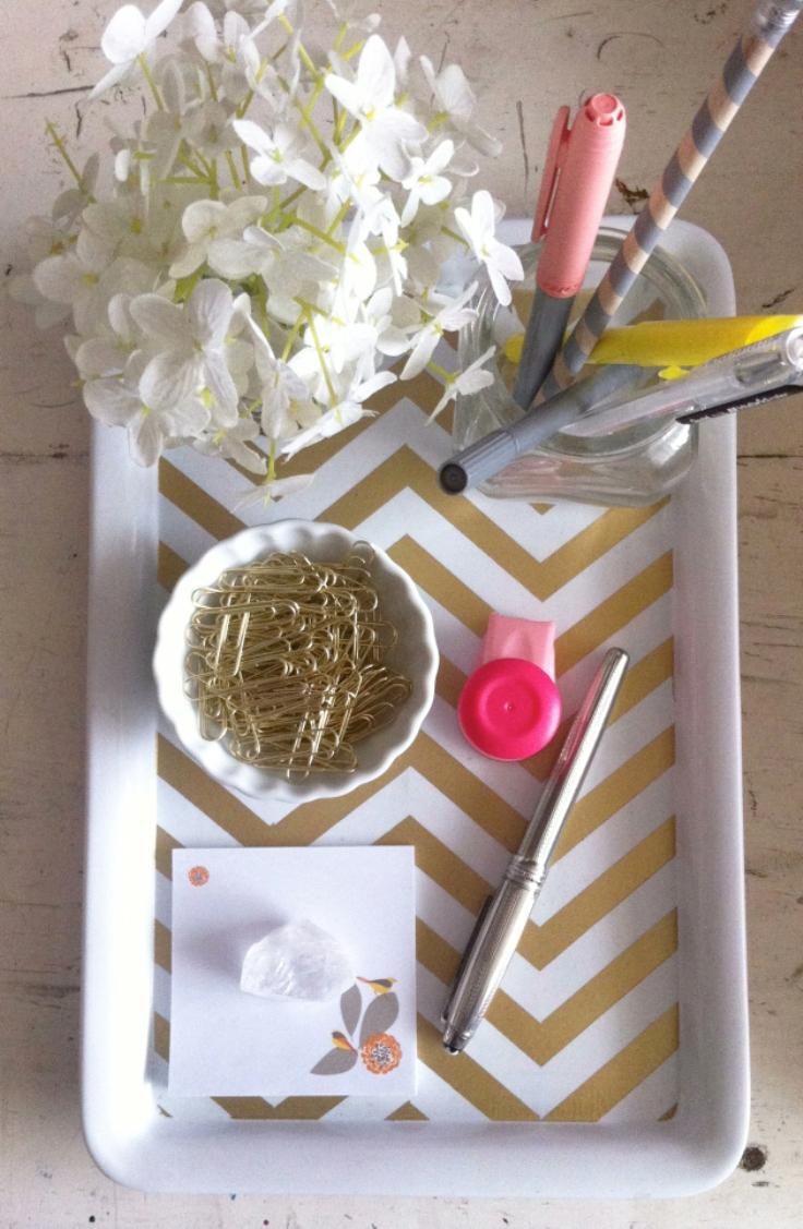 Gold-Chevron-Desk-Tray