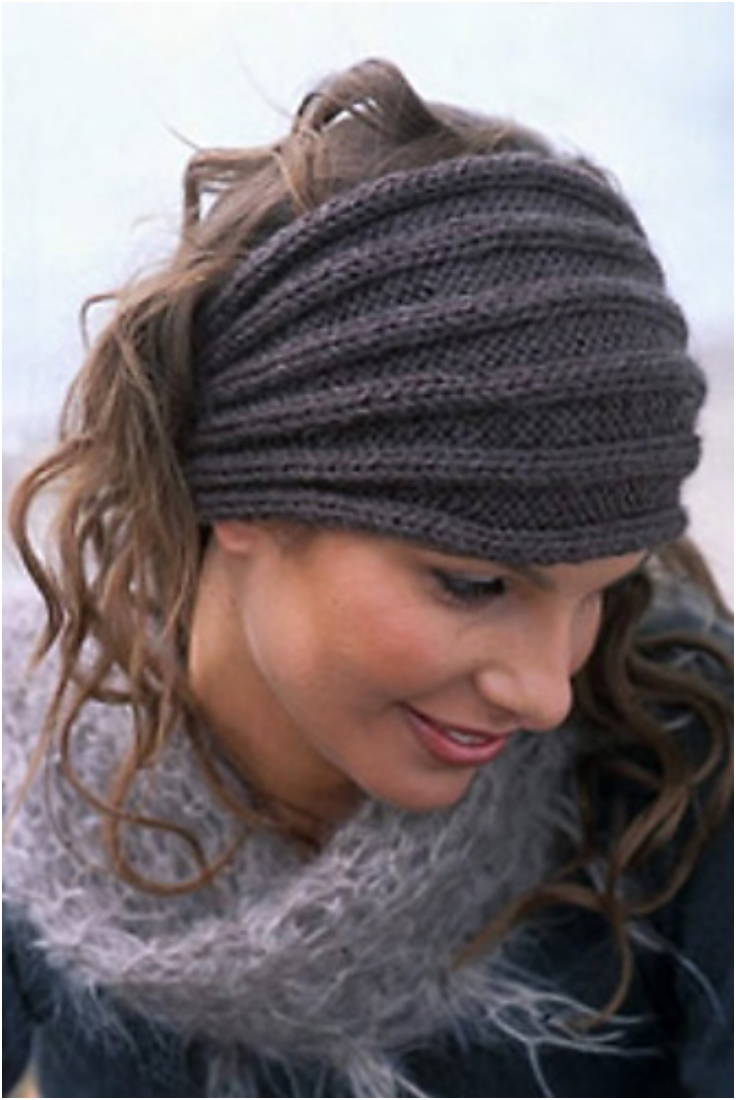 Free Knitting Pattern Headband : Top 10 Warm DIY Headbands (Free Crochet and Knitting Patterns) - Top Inspired