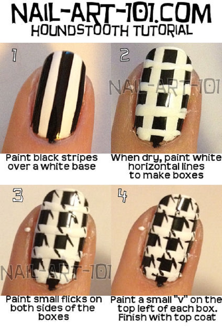 Houndstooth-Nail-Tutorial