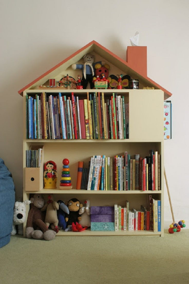 Top 10 diy kid s book storage ideas top inspired for Diy kids bookshelf ideas