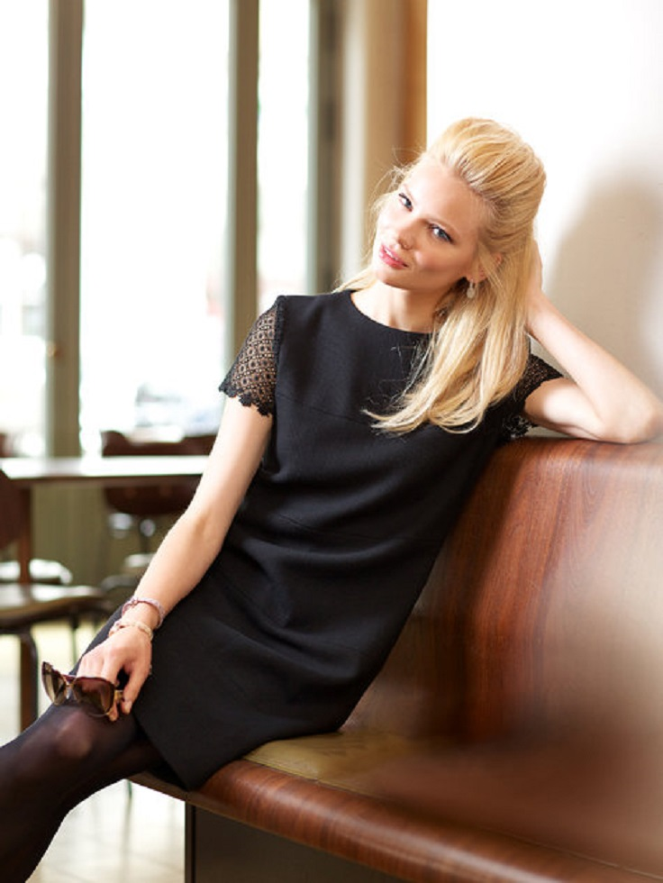 Lace-Sleeve-Dress