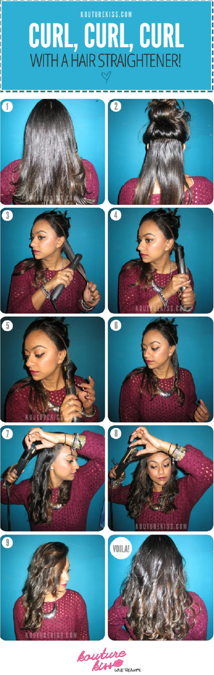 Top 10 Best Tutorials on How to Curl Your Hair With Flat Iron