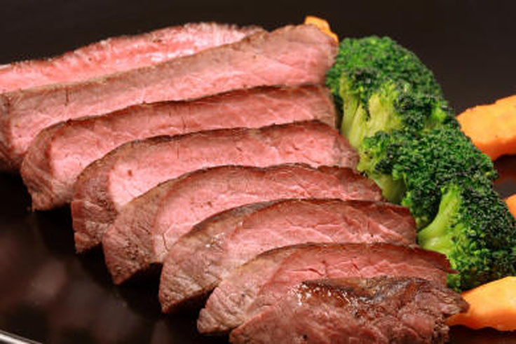 This classic recipe for London Broil is marinated in wine and vinegar ...
