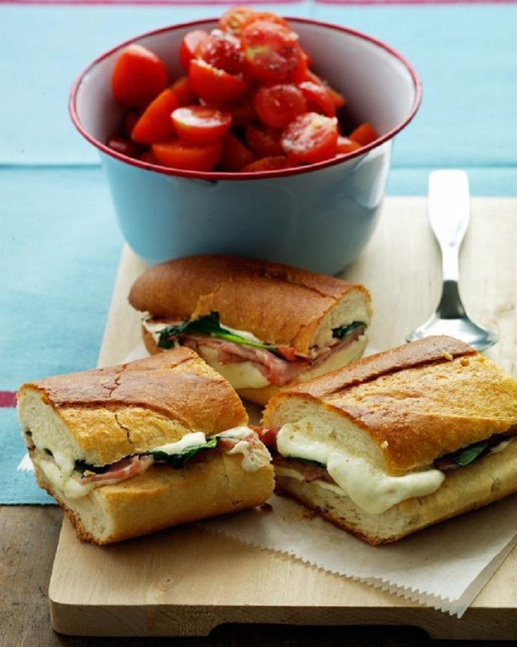 Mozzarella-and-Ham-Panini
