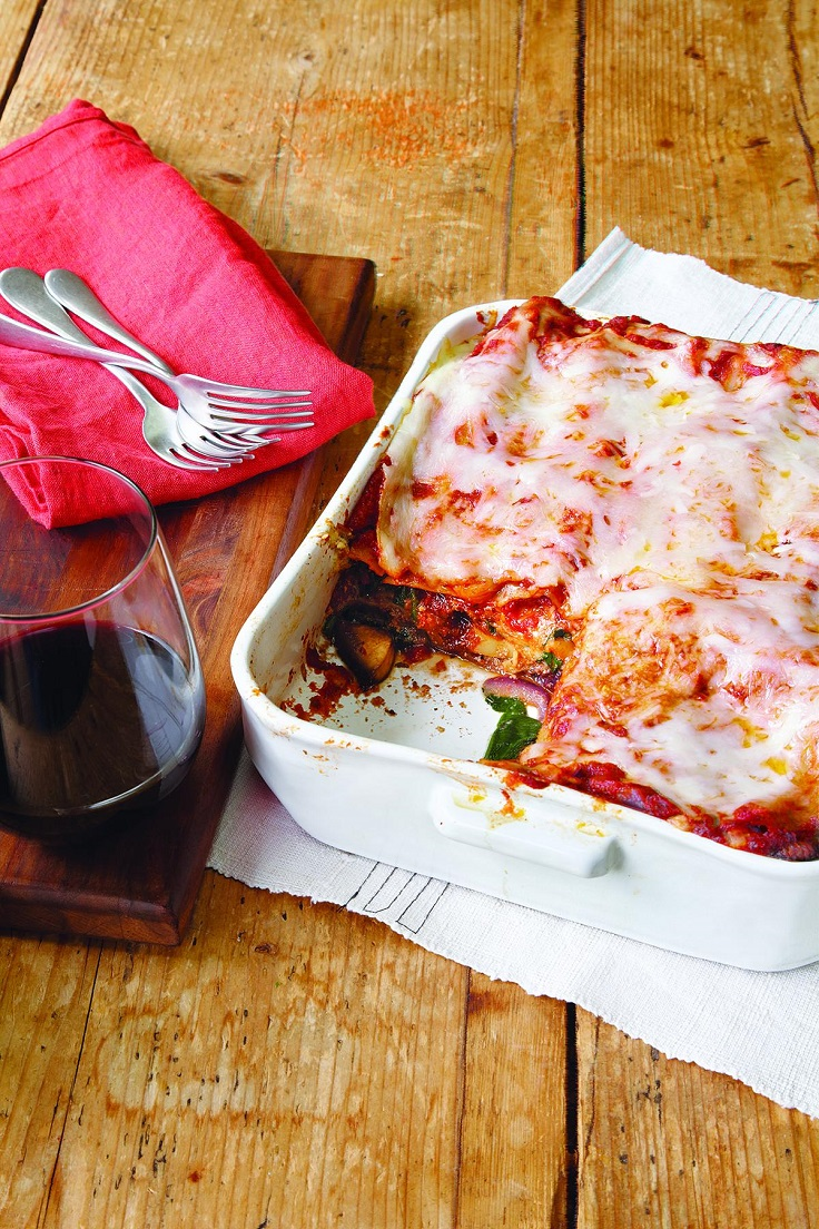 Mushroom-and-Spinach-Lasagna