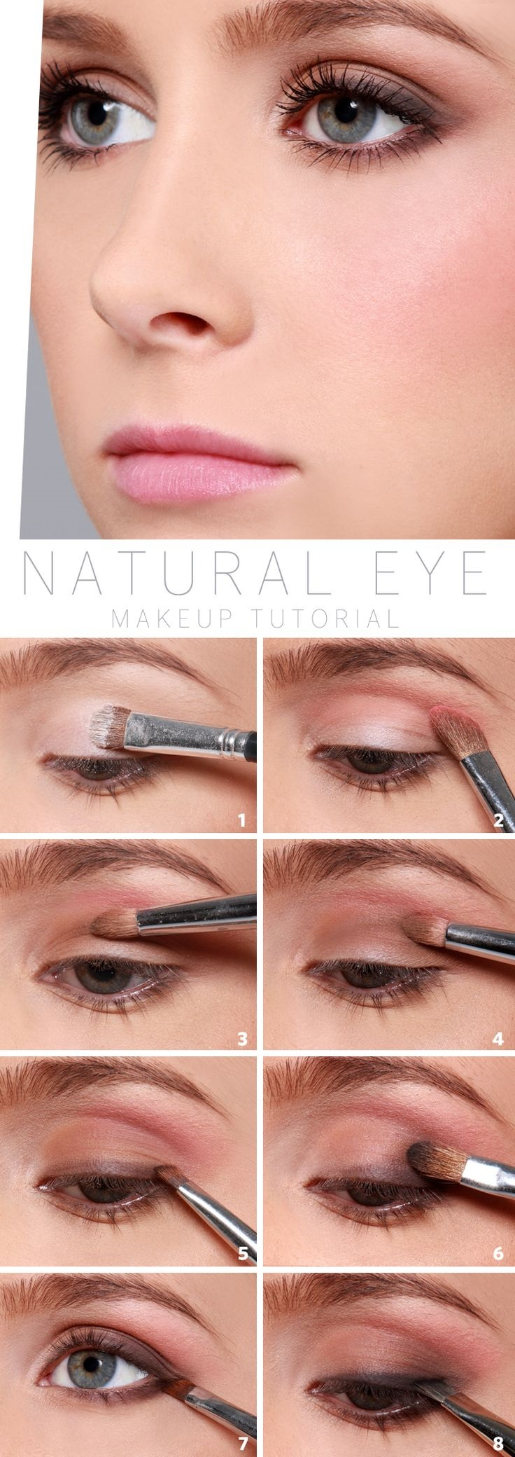 Tutorial to  makeup Natural Makeup how natural Eye