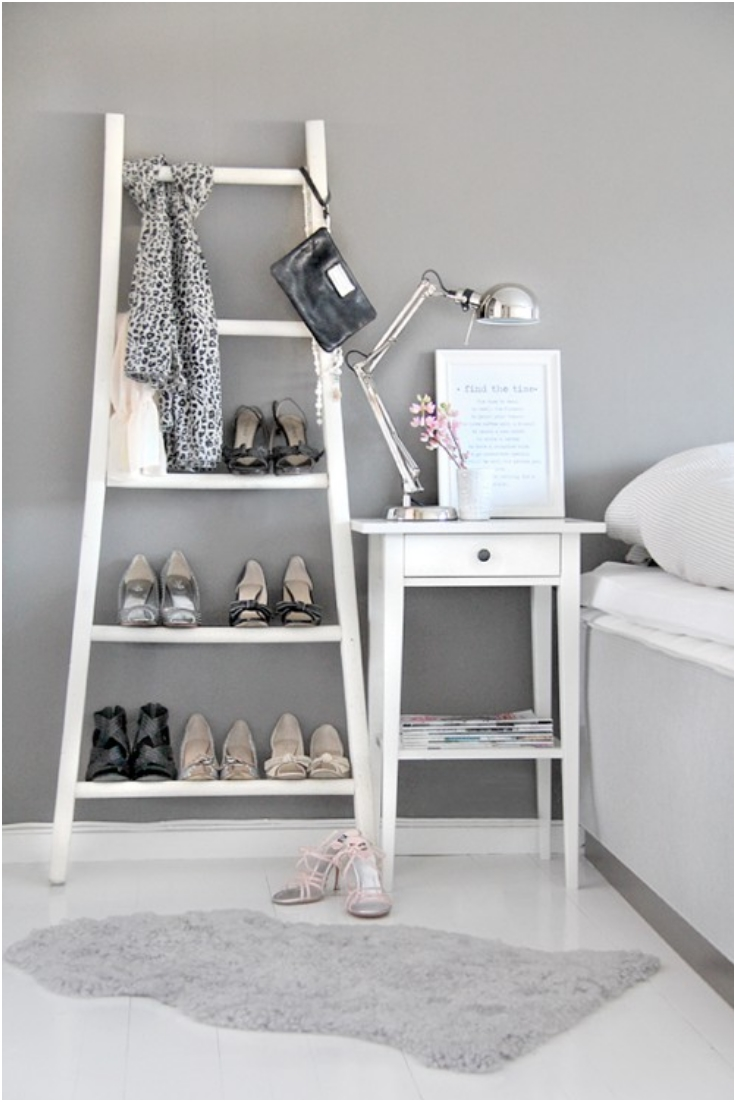 Old Ladder As A Shoe Rack
