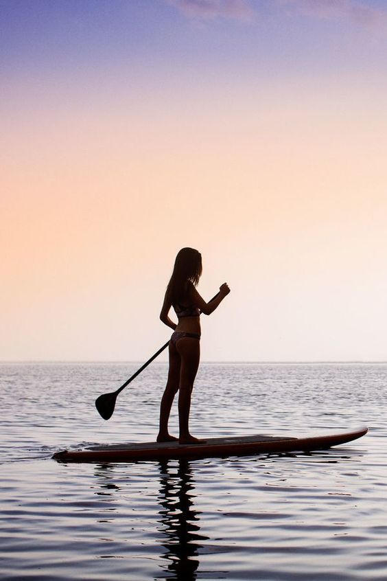 Paddle-Boarding-Sunset