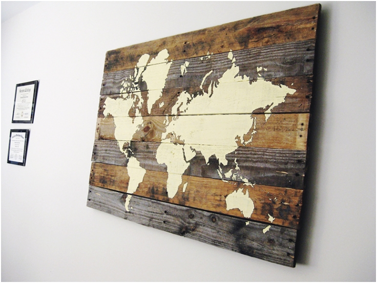 Pallet-Board-World-Map