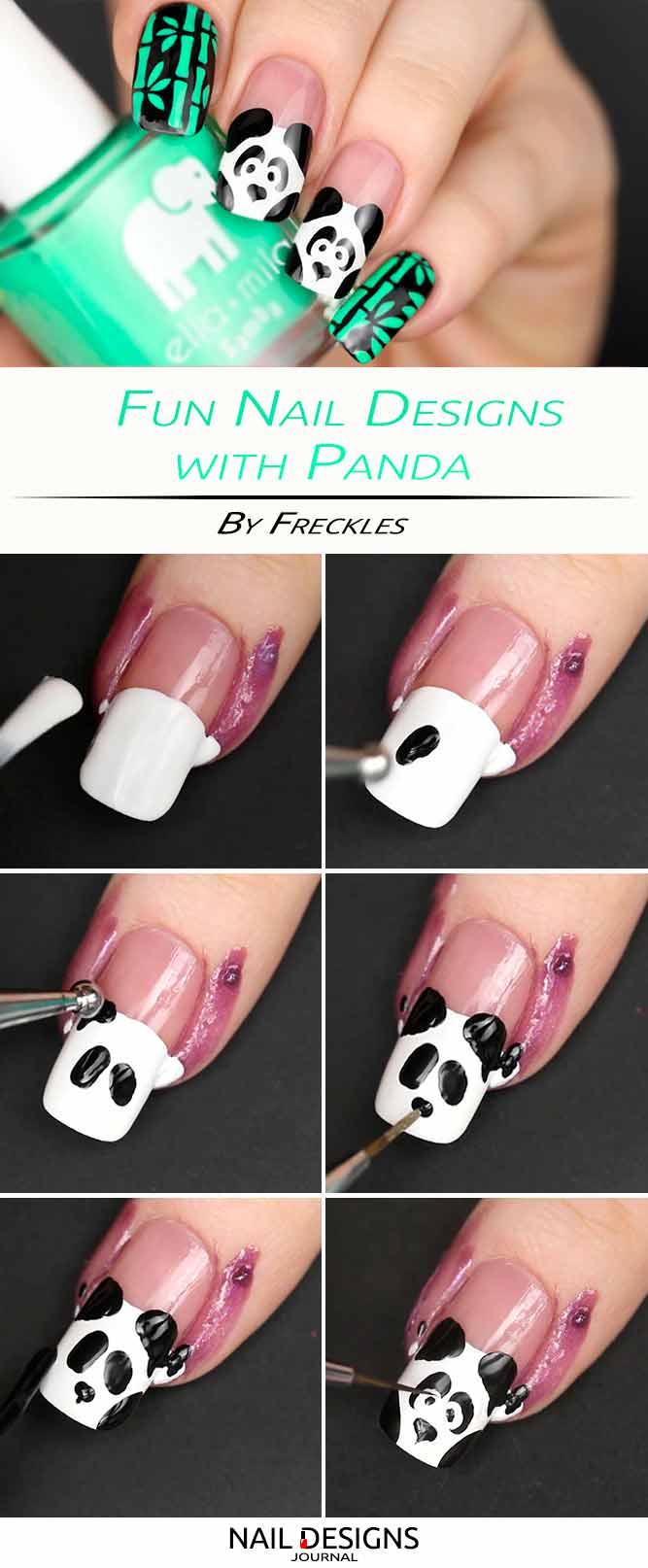 Panda-Nail-Art-