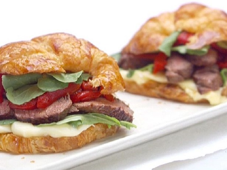 Parisian-Steak-and-Cheese-Croissant-Sandwiches