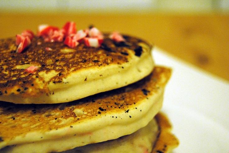Peppermint-Eggnog-Pancakes