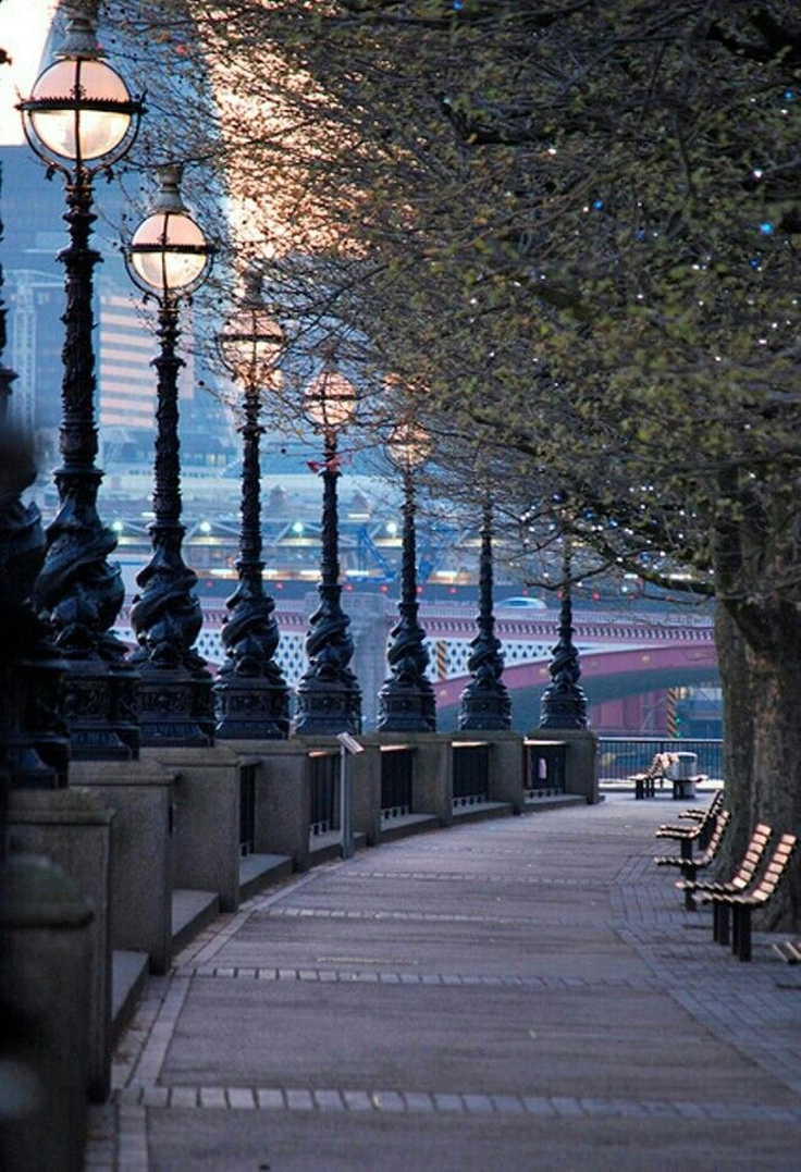 The Queens Walk, London, England.