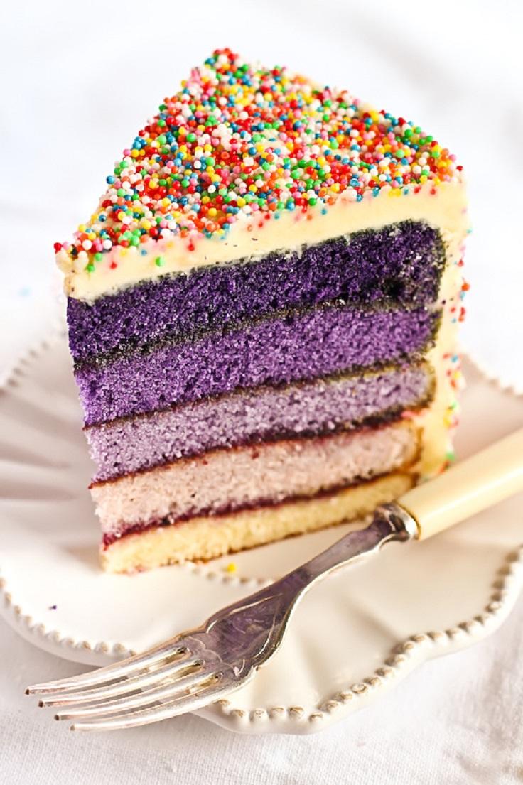 Purple-Ombre-Sprinkles-Cake