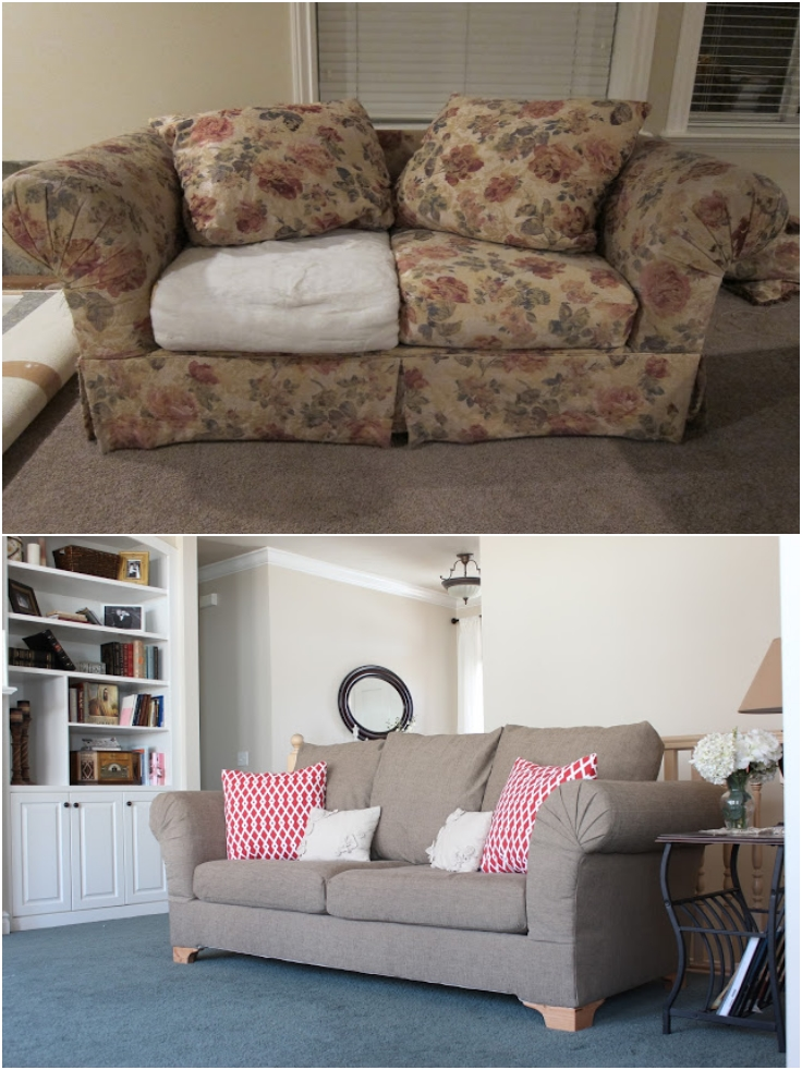 Top 10 refreshing diy re upholstered furniture top inspired Reupholster loveseat