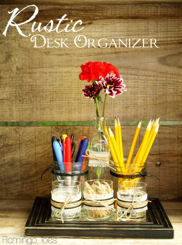 Rustic-Desk-Organizer