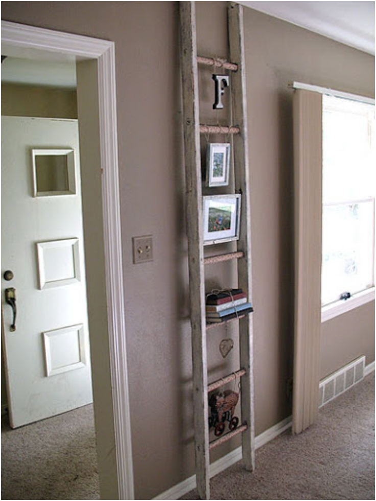 Shabby-Chic-Decoupage-Ladder