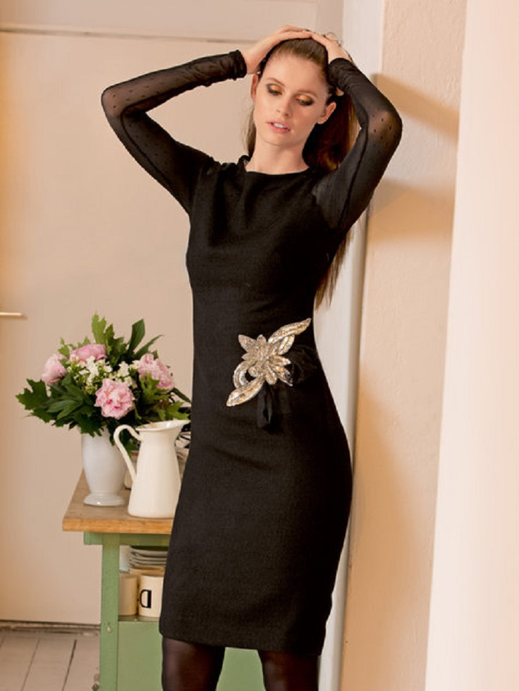 Sheer-Sleeve-Dress
