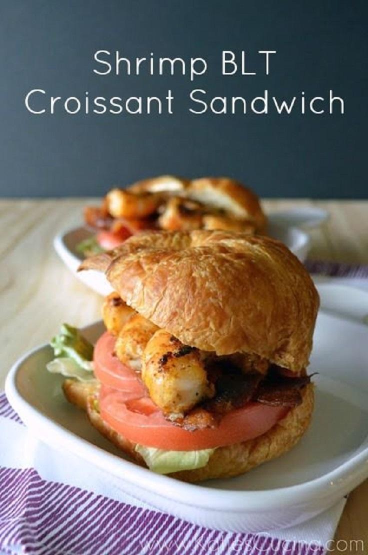 Shrimp-BLT-Croissant-Sandwich