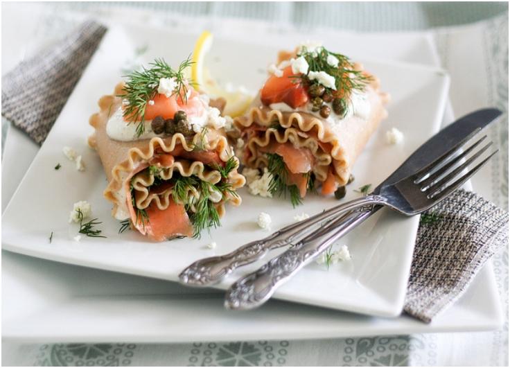 Smoked-Salmon-Lasagna-Rolls