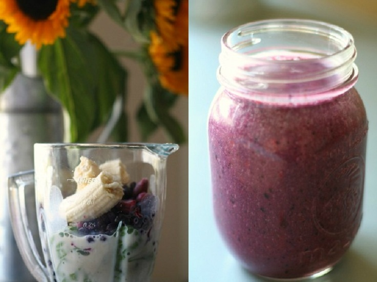 Spinach-Cherry-Berry-Smoothies