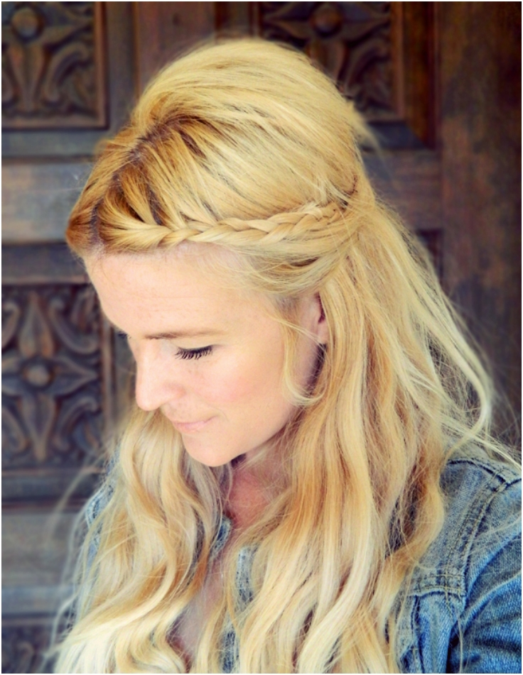 Two Minute Braided Hairstyle