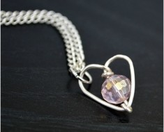 Wire-Wrapped Heart Necklace