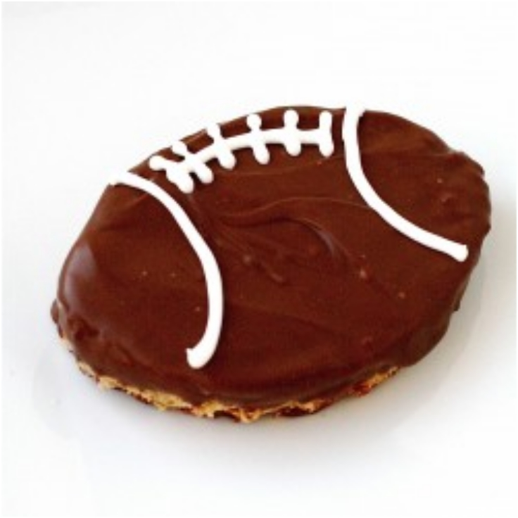 chocolate-dipped football scotcheroos