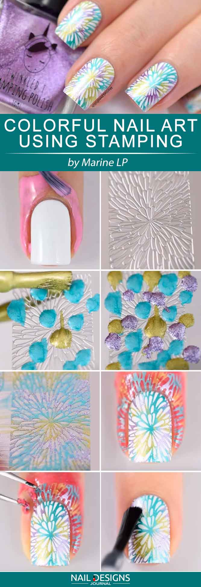 colorful-nails-with-stamping-art-