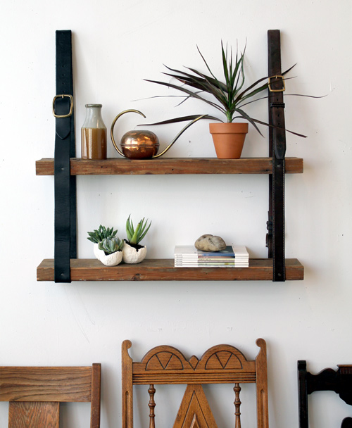 diy-leather-and-wood-shelf