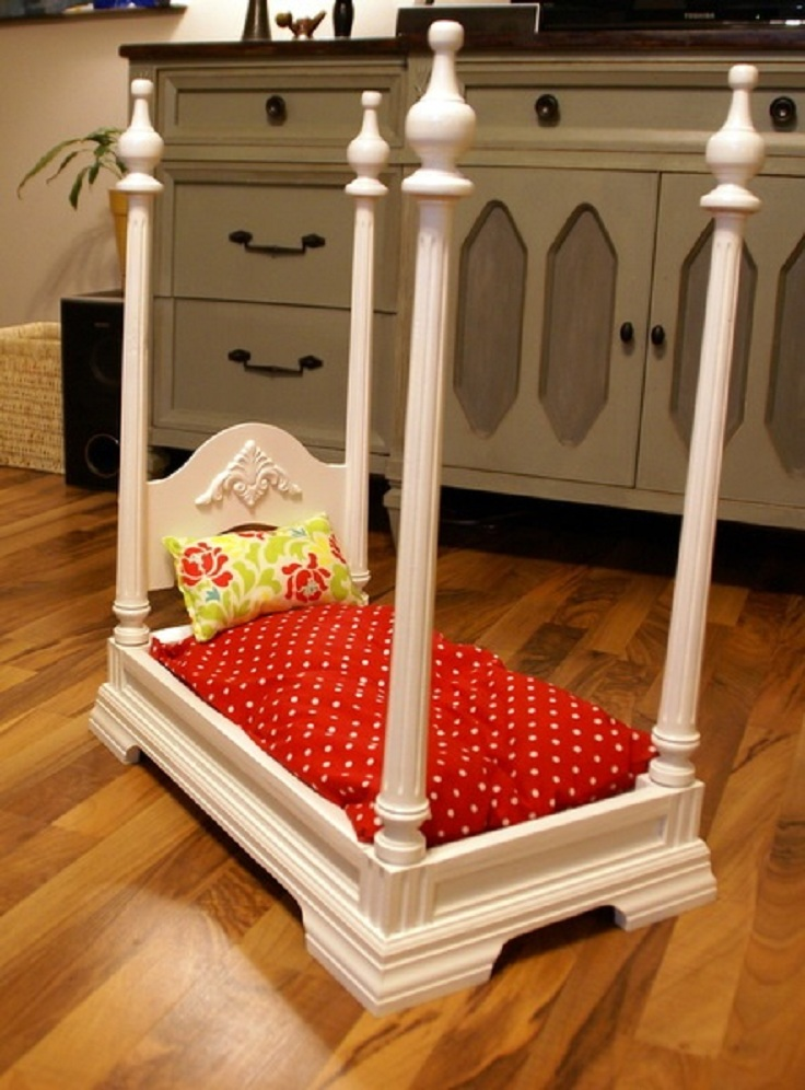 Top 10 fun and simple upcycled diy kids projects top for Making a dog bed out of a table