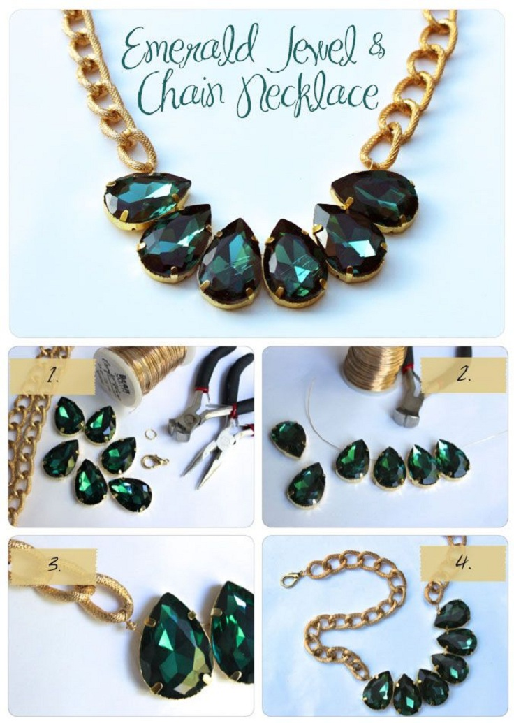 emerald-jewel-chain-necklace
