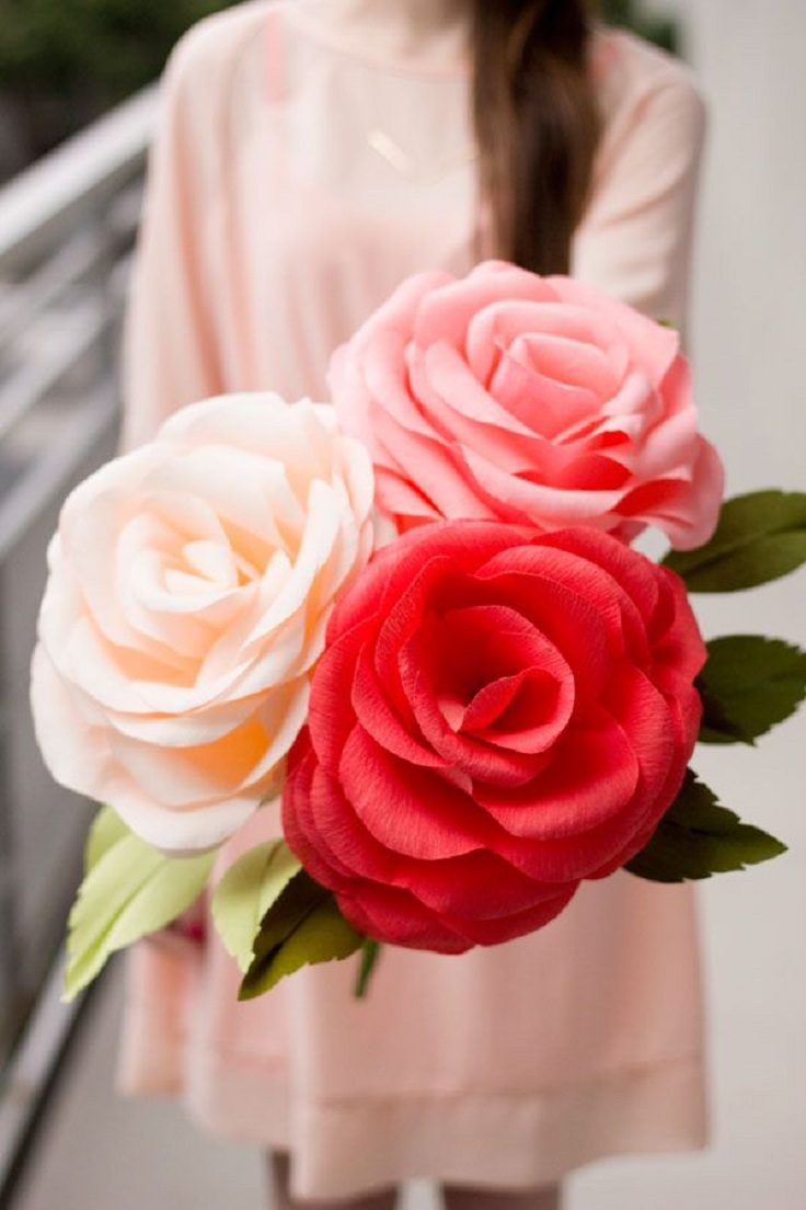 Top 10 DIY Valentine Rose Crafts | Top Inspired