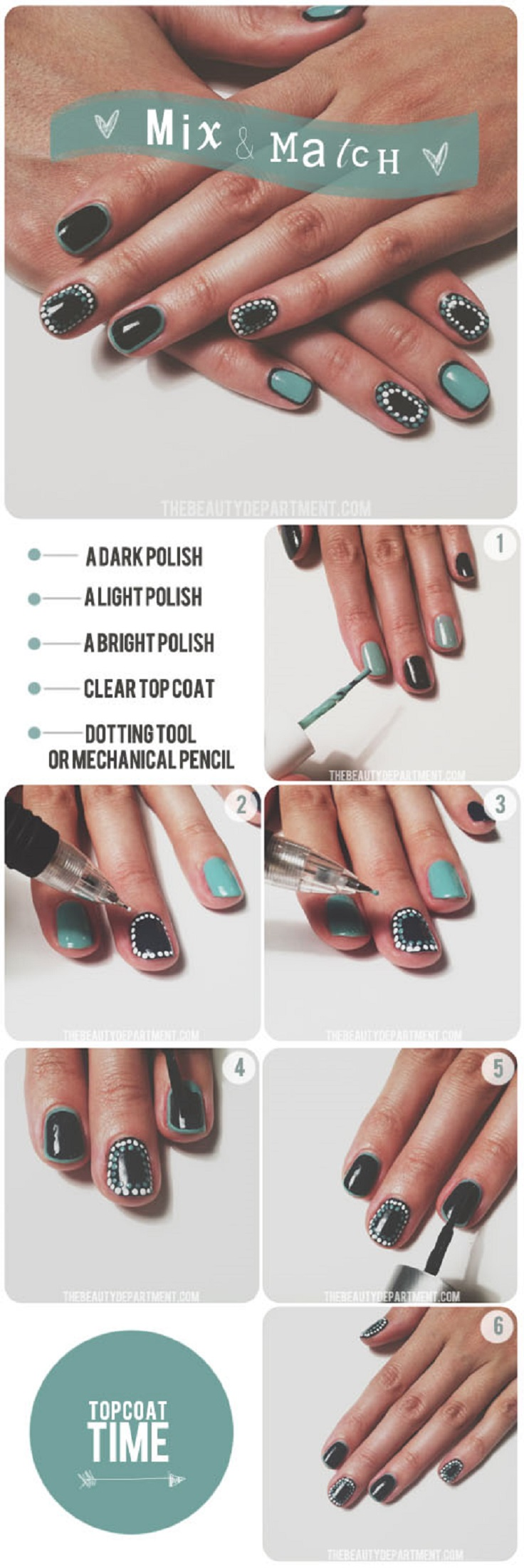 top 10 fun and easy nail tutorials top inspired. Black Bedroom Furniture Sets. Home Design Ideas