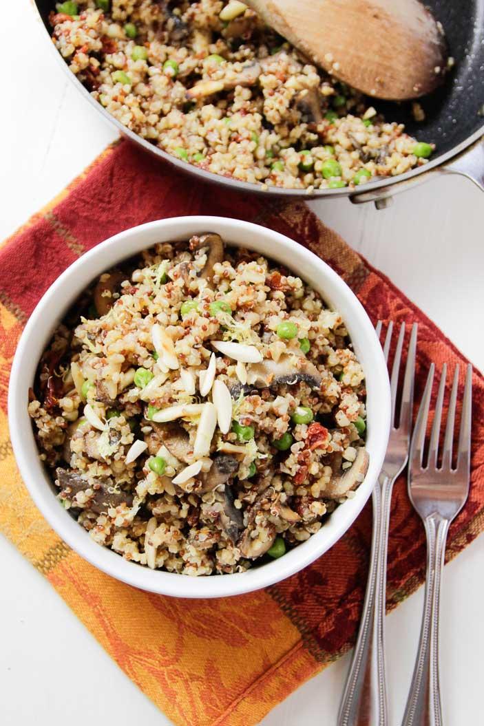 mushroom-quinoa-pilaf-