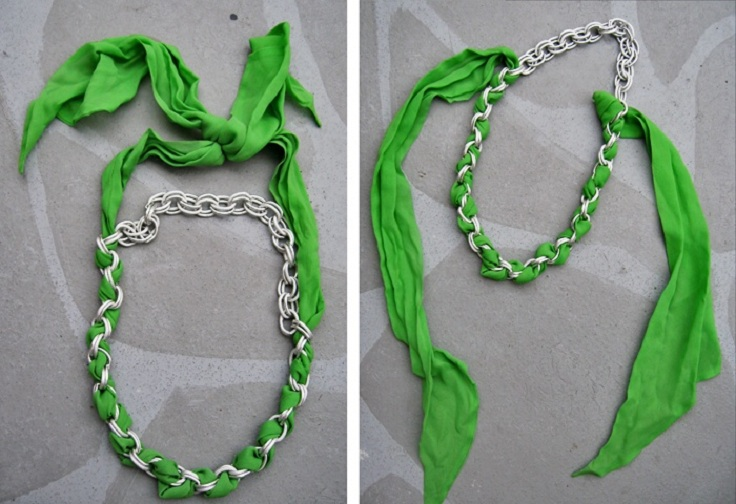 scarf chain necklace