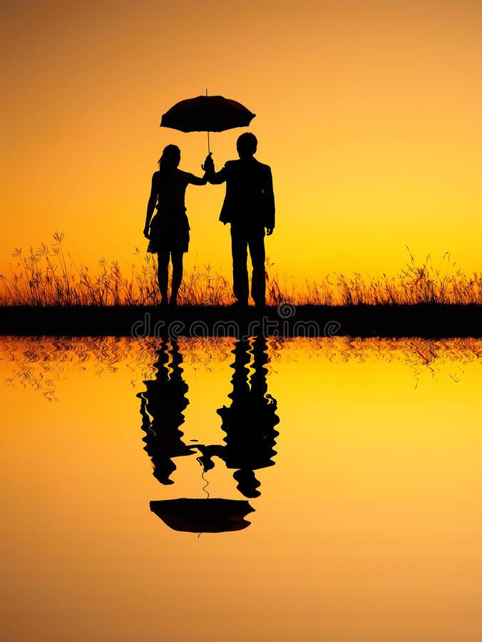 umbrella-sunset-sihouette-