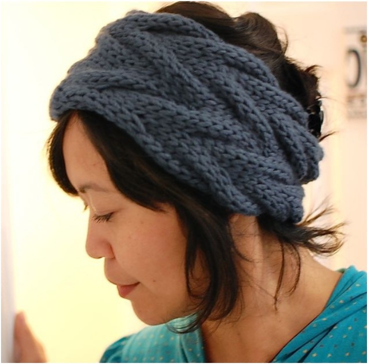 Knit Pattern For Headband : Top 10 Warm DIY Headbands (Free Crochet and Knitting Patterns) - Top Inspired