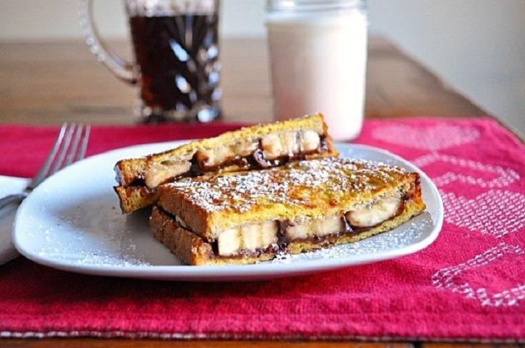 Banana & Nutella Stuffed French Toast