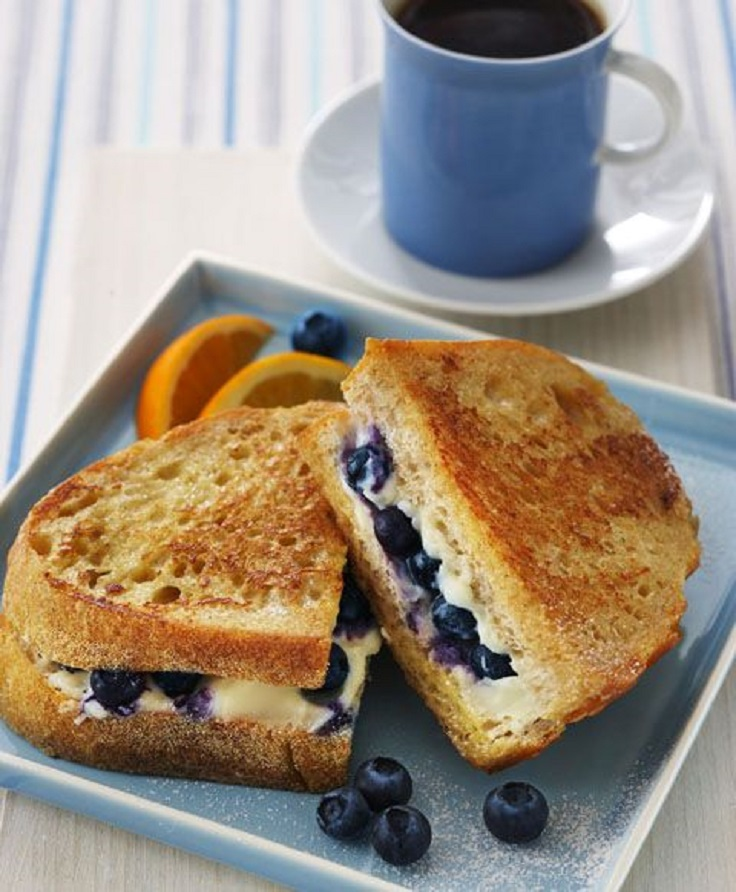 Blueberry & Cream Cheese French Toast Sandwich