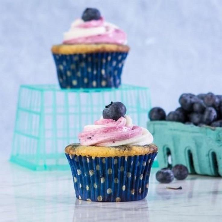 Blueberry-Swirl-Cupcakes