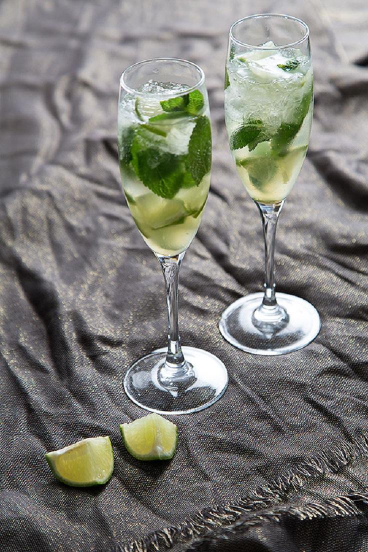 Champagne-Mojitos