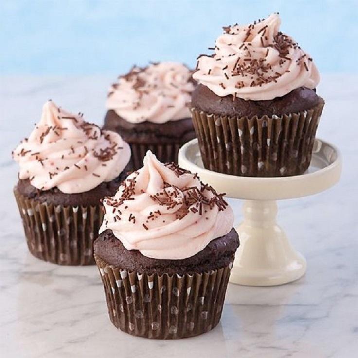 Chocolate Strawberry Banana Cupcake
