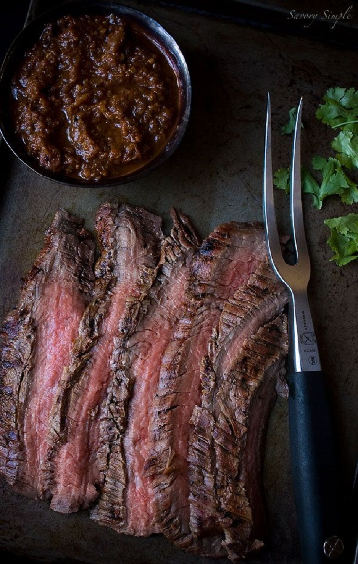 Marinated, Grilled Flank Steak Recipe — Dishmaps