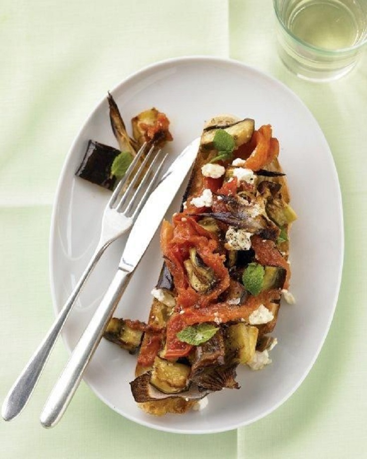 Eggplant-and-Mint-Bruschetta