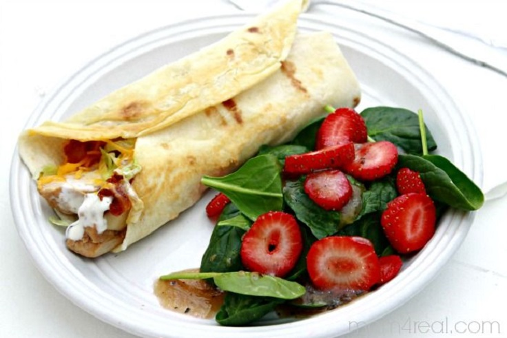 Grilled-Chicken-Ranch-Wrap