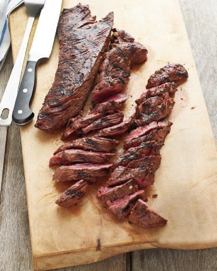 Grilled-Marinated-Hanger-Steak
