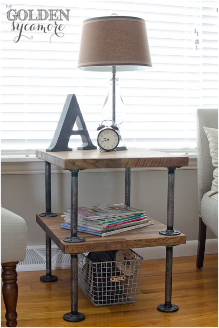 Top 10 excellent diy end tables top inspired for Diy industrial