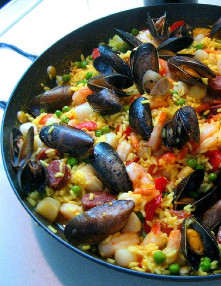 Shrimp And Scallop Paella Recipe — Dishmaps