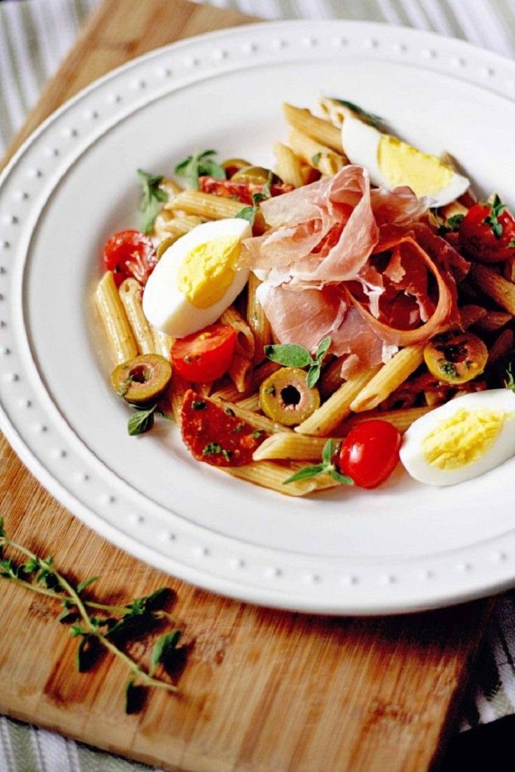 Spanish-Charcuterie-Pasta-Salad